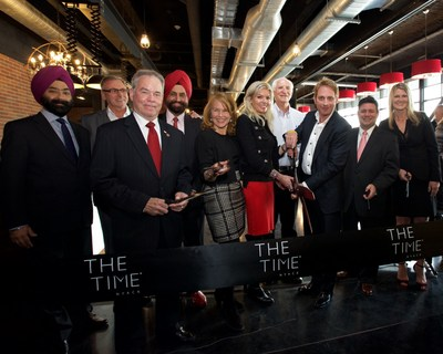 Pictured Left to Right: Rabinder Pal Singh, executive vice president and chief financial officer of Dream Hotel Group; Joseph Smith owner of BV's Grill and Bobby Van's Steakhouses; Ed Day, Rockland County Executive; Sant Singh Chatwal, chairman of Dream Hotel Group; Jen White, Mayor of Nyack; Kerry Wellington, principal of WYINC; Michael Yanko, principal of WYINC; Jay Stein, chief executive officer, Dream Hotel Group; Beth Tufekcic, brand manager, Dream Hotel Group.