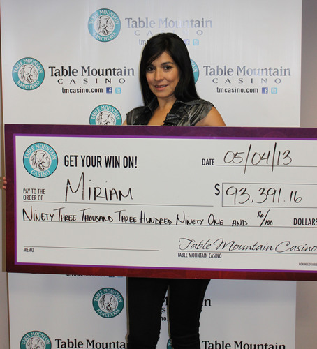 Table Mountain Casino's Massive Cash Jackpot Winner!  (PRNewsFoto/Table Mountain Casino)