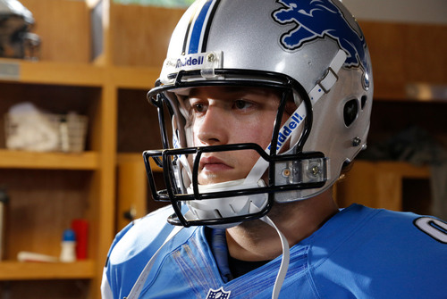 Detroit Lions QB Matt Stafford behind the scenes at TM Pepsi ad spot shoot.  (PRNewsFoto/PepsiCo)