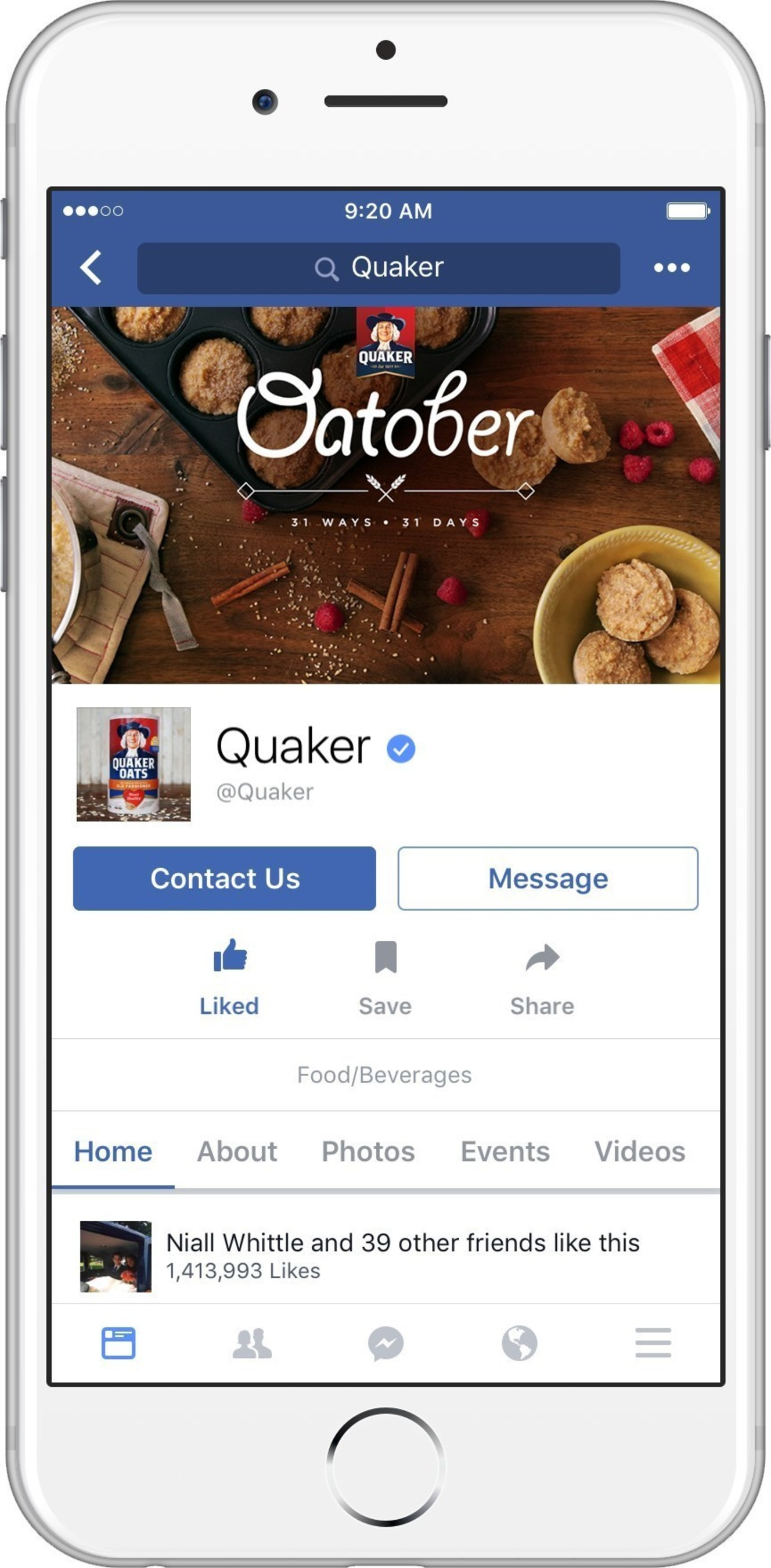 With oatmeal season officially underway, The Quaker Oats Company, a subsidiary of PepsiCo, Inc., is launching a campaign, aptly called 'Oatober,' to celebrate the goodness and versatility of oats.
