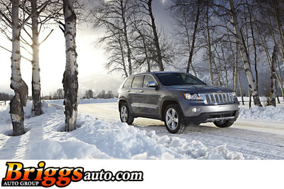 The 2014 Jeep Grand Cherokee was included on Kelley Blue Book's 2013 list of the 10 Best Cars for Winter.  (PRNewsFoto/Briggs Auto Group)