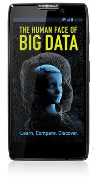 The Human Face of Big Data Smartphone App Welcome Screen.  (PRNewsFoto/Against All Odds Productions)