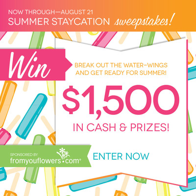From You Flowers Celebrates Summer With Staycation Sweepstakes.  (PRNewsFoto/From You Flowers)