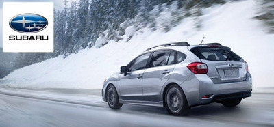 The Subaru Impreza is available as both a four-door sedan and a five-door hatchback.  (PRNewsFoto/Briggs Auto Group)