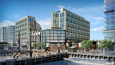The Channel - one of Washington's largest apartment buildings currently under construction at The Wharf -  Pre-leasing begins Spring 2017