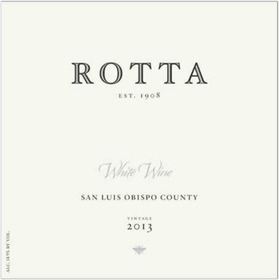 ROTTA White Wine label (PRNewsFoto/ROTTA Winery)