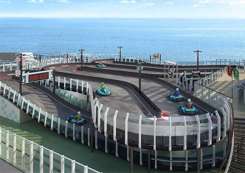 "RiMO Kart Race Track on NCL ""Norwegian Joy"". (PRNewsFoto/RiMO Supply GmbH)"