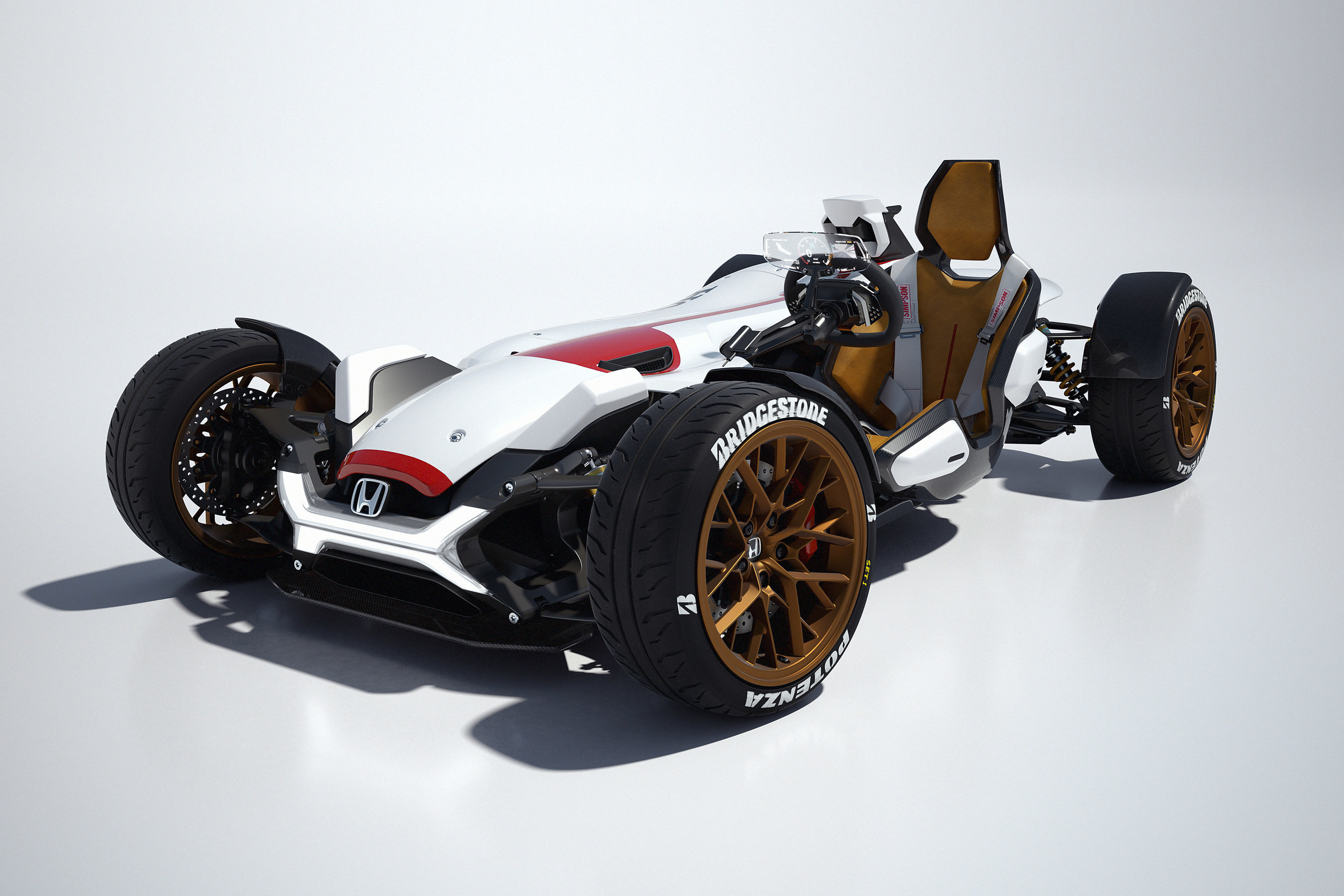 Honda's Motorcycle and Automobile Engineering Prowess Combine in the Honda Project 2&4 Shown at the Los ...