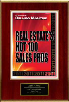"""Kim Arena Selected For """"Real Estate's Hot 100 Sales Pros"""".  (PRNewsFoto/American Registry)"""