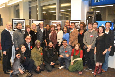 "At the Opening Reception for the ""LIC Past, Present & Future"" Photography Exhibit, LaGuardia Community College student photographers show their work and are joined by College administrators, representatives of Astoria Bank, the Queens Chamber of Commerce and the LIC Partnership. The public is welcome to view the exhibit on display at Astoria Bank, 26-26 Jackson Ave., Long Island City, through April 2017."
