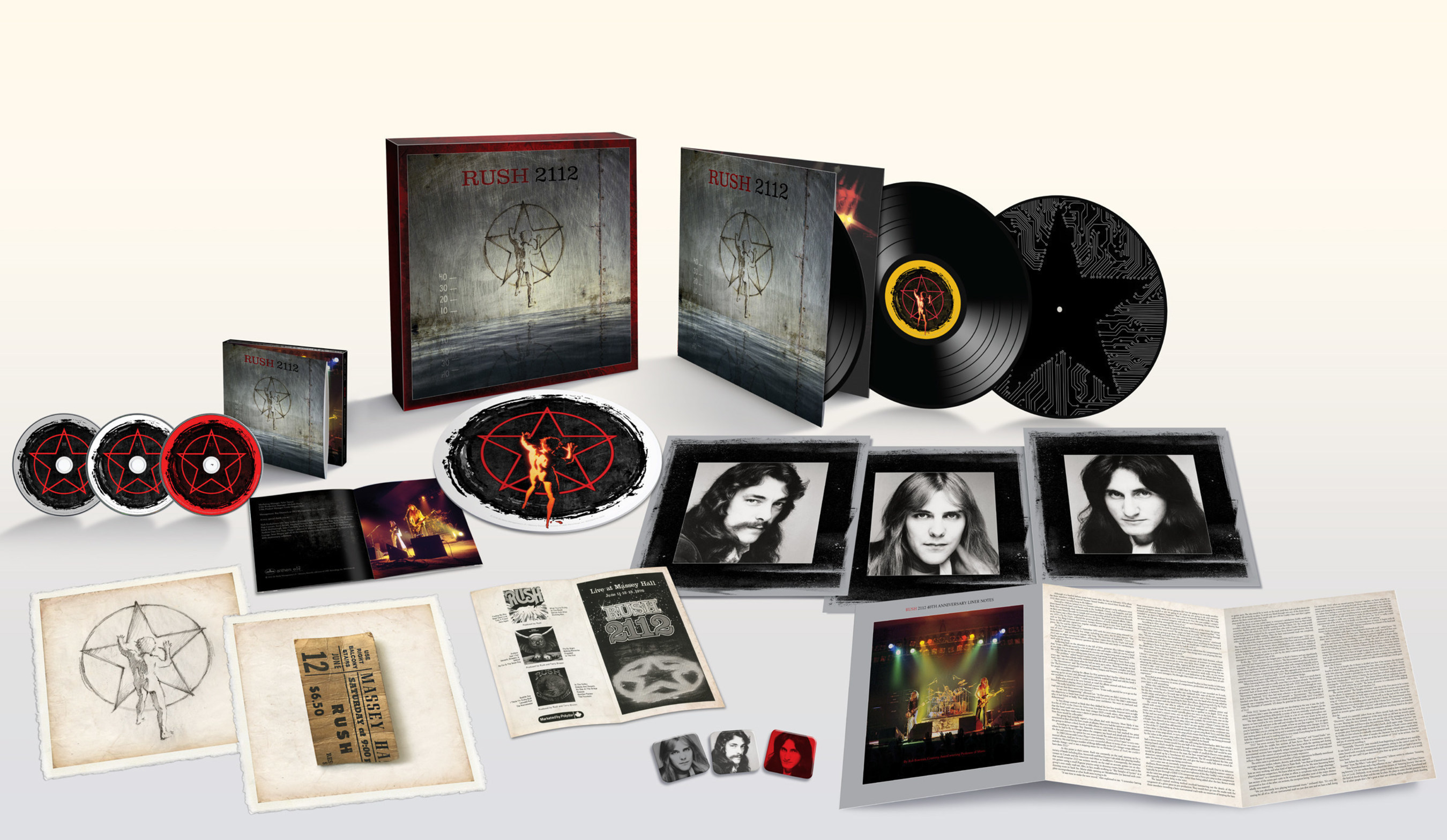 '2112' At 40: Rush Celebrates The 40th Anniversary Of Its Classic '2112' With Expansive 2CD/DVD/3LP Vinyl Packages To Be Released On December 16