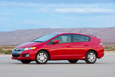 The 2013 Honda Insight Hybrid.  (PRNewsFoto/American Honda Motor Co., Inc.)
