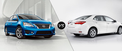 Ingram Park Nissan compares the 2014 Nissan Sentra to the 2014 Toyota Corolla.  (PRNewsFoto/Ingram Park Nissan)