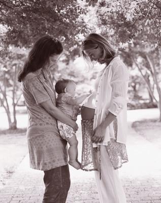 Lesbian Family.  (PRNewsFoto/The American Fertility Association)