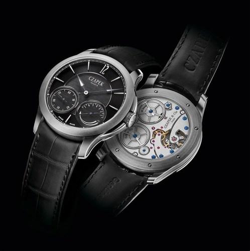 No. 27 Quai des Bergues, Titanium case, Carbon dial, Blued steel hands, Black oxidized hands superluminova, ...