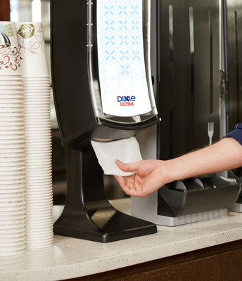 The Dixie Ultra(R) Interfold 2-Ply Napkin is a soft, large, strong and absorbent napkin for a cost comparable to a 1-Ply napkin. The new napkin is part of a system which includes one-at-a-time style dispensers, which reduce waste and are easy to fill and maintain.
