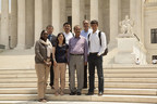 @WashULaw students in front of the Capitol building in Washington, D.C. (PRNewsFoto/Washington Univ. in St. Louis)