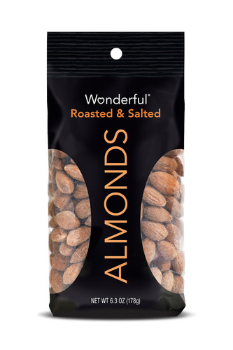 Wonderful Almonds Roasted & Salted.  (PRNewsFoto/Wonderful Almonds)