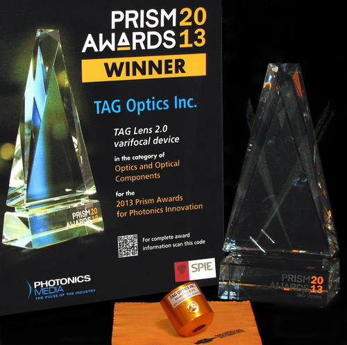 TAG Optics' Wins 2013 Prism Award.  (PRNewsFoto/TAG Optics Inc.)