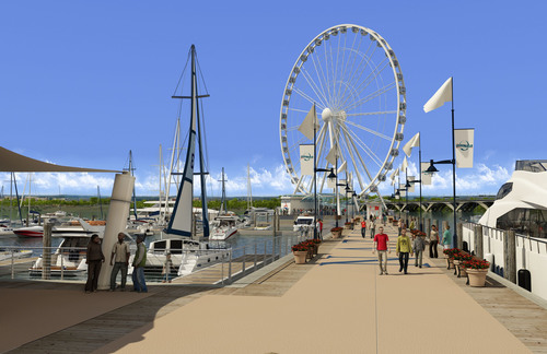 The Capital Wheel at National Harbor is a large-scale observation wheel soaring 175 feet above the Potomac ...