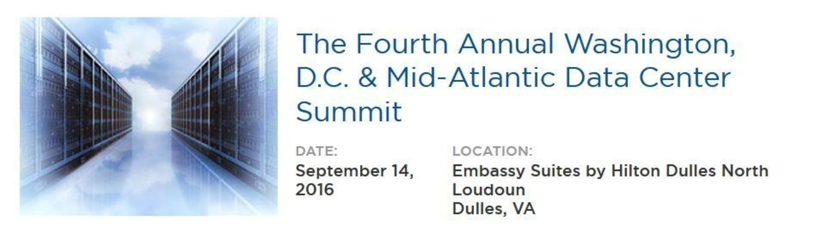 Record Attendance Expected at 4th Annual Washington, D.C. & Mid-Atlantic Data Center Summit