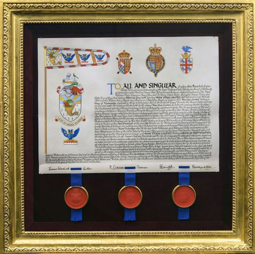 """The Grays of Westminster Coat of Arms: """"Lead in Order to Serve"""" (PRNewsFoto/Grays of Westminster)"""