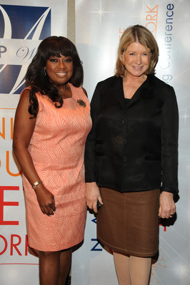Star Jones, NAPW National Spokesperson, with Martha Stewart, at NAPW's third annual National Networking Conference, Spark. Ignite Your Network.