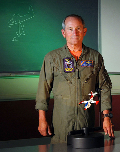 Jerry Gallagher, an instructor for Wyle at the U.S. Naval Test Pilot School at Patuxent Naval Air Station, flew  ...