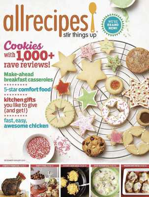 The December 2013 issue of Allrecipes magazine.  (PRNewsFoto/Meredith Corporation)