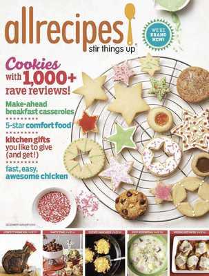 The December 2013 issue of Allrecipes magazine. (PRNewsFoto/Meredith Corporation) (PRNewsFoto/MEREDITH CORPORATION)