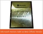 Microsoft Honors Aditi as Best Offshore Vendor