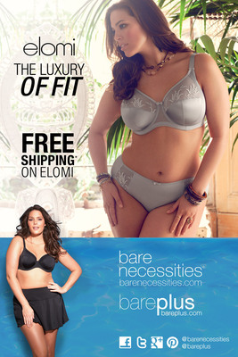 Bare Necessities Releases a Stylish New Digital Spread Featuring Exclusive Lingerie & Swim Styles for Full Figured and Full Busted Women.  (PRNewsFoto/Bare Necessities)