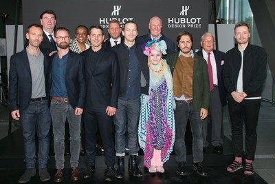 The Hublot Design Prize jury and finalists with Mr Jean-Claude Biver, Chairman Hublot2 (PRNewsFoto/HUBLOT)