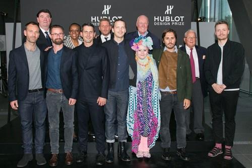 The Hublot Design Prize jury and finalists with Mr Jean-Claude Biver, Chairman Hublot2 (PRNewsFoto/HUBLOT) ...