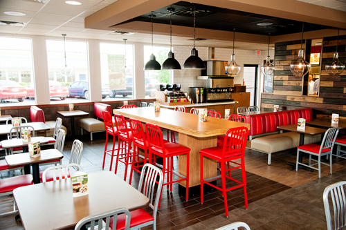 Newly Remodeled Arby's Restaurant Interior (PRNewsFoto/Arby's Restaurant Group, Inc.)
