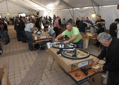 More than 150 Vista Outdoor employees volunteered to build bikes for the National Ability Center
