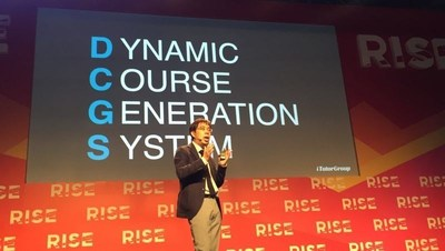 Arthur Shen is speaking about Dynamic Course Generation System at RISE conference in Hong Kong.