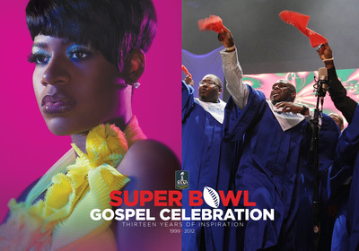 Fantasia and the NFL Players Choir will perform at the 13th annual Super Bowl Gospel Celebration during Super Bowl XLVI Weekend in Indianapolis.  (PRNewsFoto/Super Bowl Gospel Celebration)