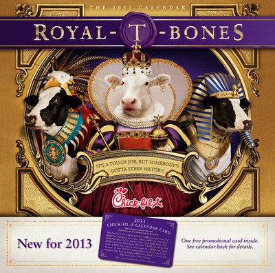 2013 Chick-fil-A Cow Calendar.  (PRNewsFoto/Chick-fil-A, Inc.)