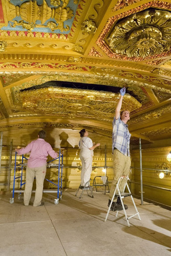 Architects Restoring the New Orleans' historic Saenger Theatre, which opened in 1927. Copyright ACE ...