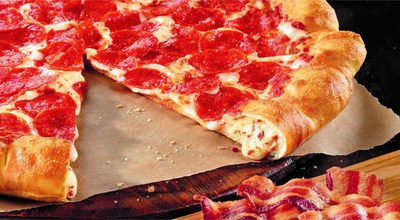 Bacon. Cheese. Stuffed. Crust. (PRNewsFoto/Pizza Hut)