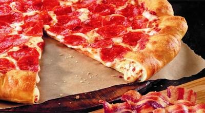 Bacon. Cheese. Stuffed. Crust. (PRNewsFoto/Pizza Hut)