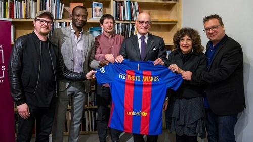 Aperture Foundation - The Vice Chairman of Barça, Carles Vilarrubi, expressed his gratitude to the attending speakers (PRNewsFoto/FC BARCELONA)