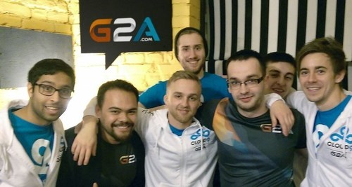 Some of the G2A e-sports team at a recent global event (PRNewsFoto/G2A.com) (PRNewsFoto/G2A.com)