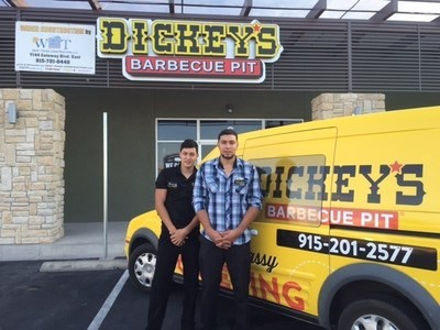 Hugo Gonzalez opens new Dickey's location in El Paso, TX. Left to right: Danny Gonzalez and Hugo Gonzalez