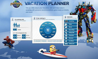Universal Orlando Resort Debuts All-New Interactive Online Vacation Planner That Helps Families Customize Their Destination Experience. (PRNewsFoto/Universal Orlando Resort) (PRNewsFoto/UNIVERSAL ORLANDO RESORT)