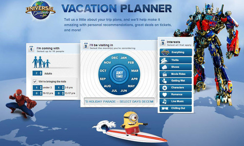 Universal Orlando Resort Debuts All-New Interactive Online Vacation Planner That Helps Families Customize Their  ...