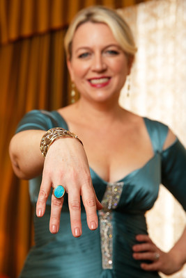 Wild author Cheryl Strayed prepares for the Oscars(R) wearing turquoise jewelry in support of the American Lung Association's LUNG FORCE, an initiative dedicated to raising awareness of the #1 cancer killer of women - lung cancer. Turquoise is the signature color of LUNG FORCE.
