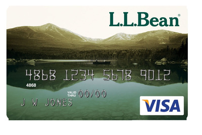 L.L.Bean Visa Card issued by Barclaycard.  (PRNewsFoto/Barclaycard US)