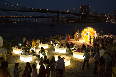 Lipton(R) ushers in this year's summer solstice with a one-of-a-kind Lipton Sun, an installation designed in partnership with PRATT Institute, aimed to provide 24-hours of sun-filled fun at the Summer TASTE Party in New York City.  (PRNewsFoto/Pepsi Lipton Tea Partnership)